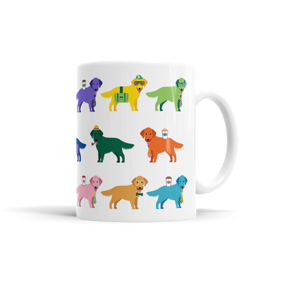 Colorful Dog Golden Retriever Mug