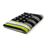 Thin Softball Line Fleece Blanket