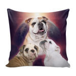 Bulldog Throw Pillows