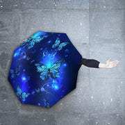 Magic Blue Butterflies Foldable Umbrella