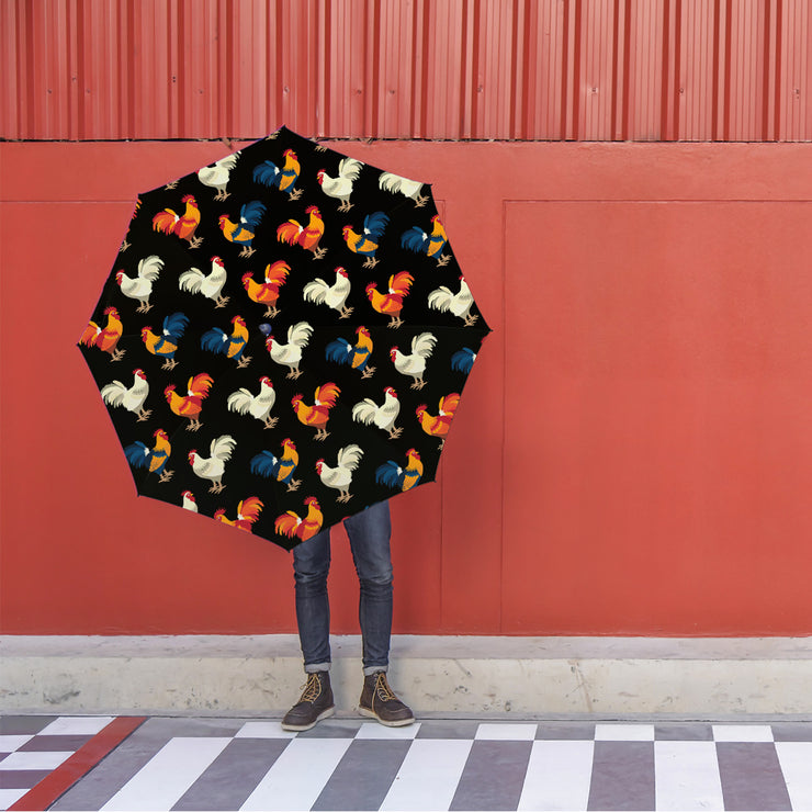 Chicken Crossing Foldable Umbrella