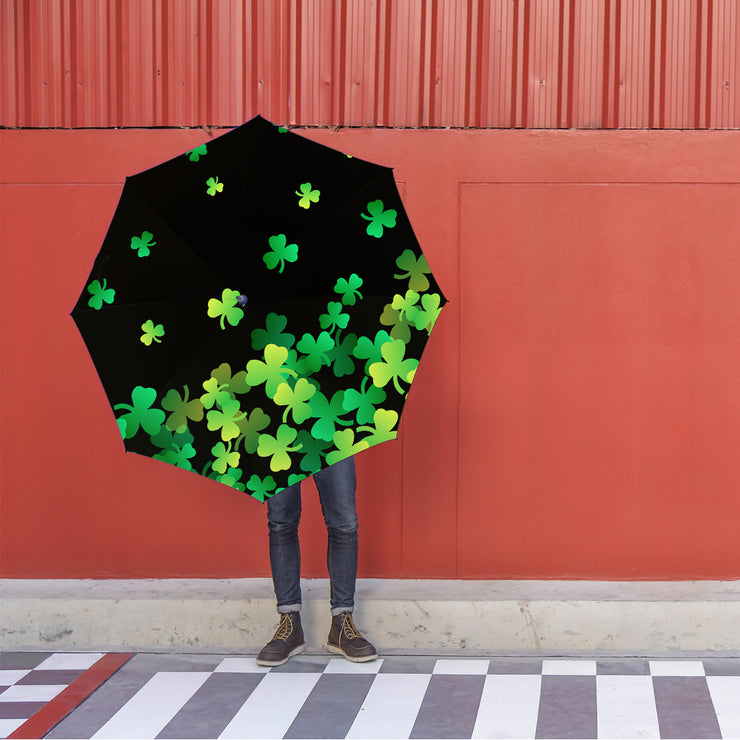 St. Patrick's Day Clovers Foldable Umbrella