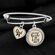 Dad You Walk Beside Me Every Day Charm Bracelet
