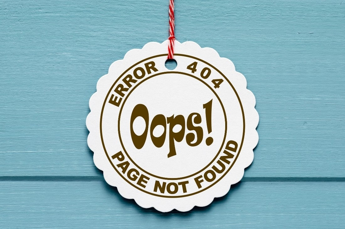 404 Ooops Page Not Found Error