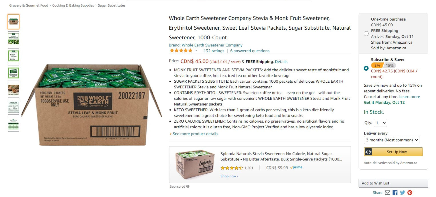 Amazon Subscribe and Save Deal Example