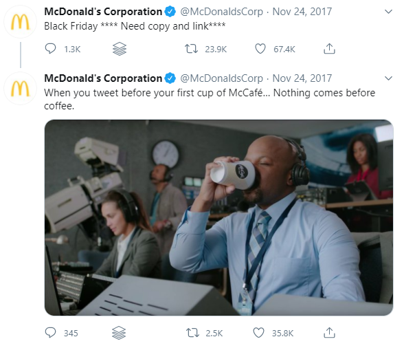 McDonalds 2017 Tweet Mistake