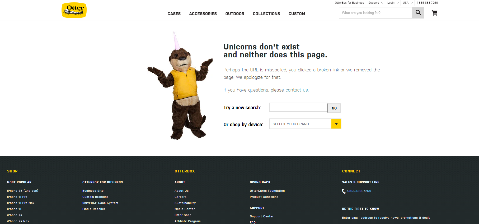 Otterbox 404 Page Example