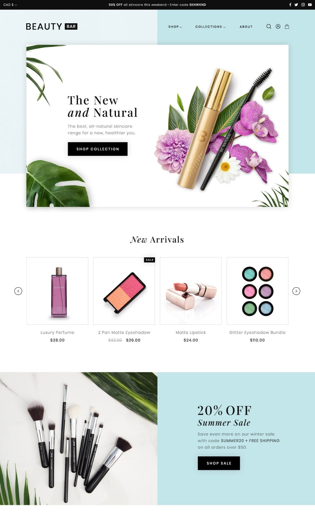 Responsive Health and Beauty Shopify Theme
