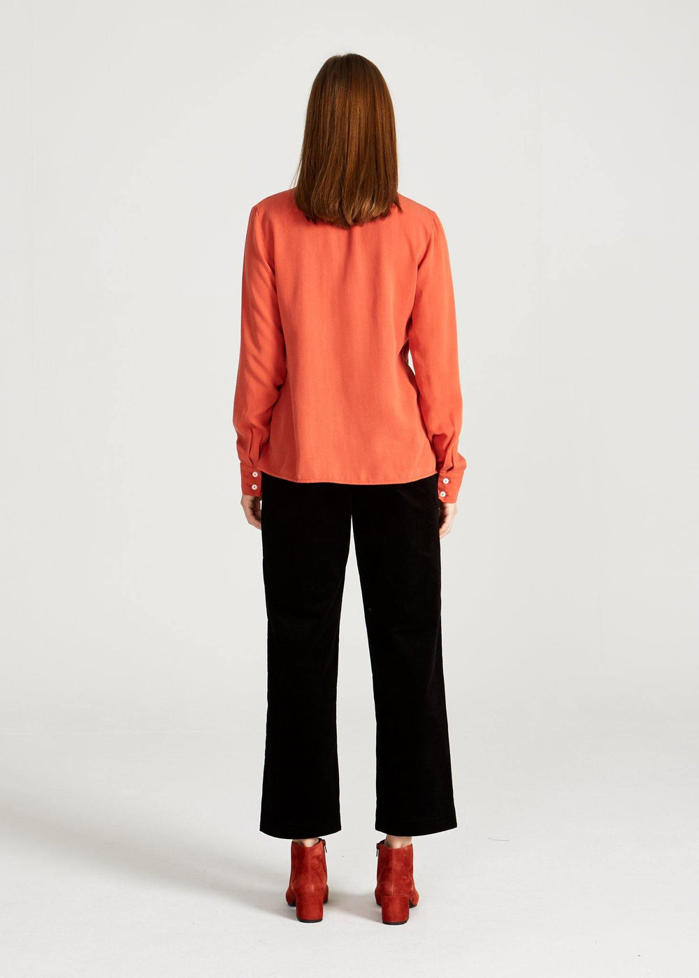 Givn BERLIN Zoe Buttoned Shirt Dark Coral (Tencel)