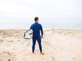 MDNS SURF - Men's Superstretch Wetsuits - Priime S-Foam - 4/3 Chest Zip Steamer Heather Iodine/Orange - 100% Superstretch S-Foam - Ride on the beach, Basque Country