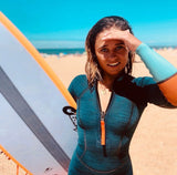 MDNS SURF - Women's Superstretch Wetsuits - Priime S-Foam - 2/2 Naiad Shorty Heather Iodine/Orange - 100% Superstretch S-Foam - Ride on the beach, Basque Country
