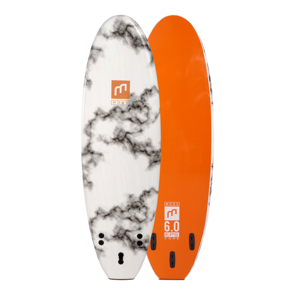 MDNS SURF - Softboards - 6'0 EPS Core Marble/Tangerine