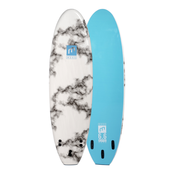 MDNS SURF - Softboards - 6'6 EPS Core Marble/Aqua