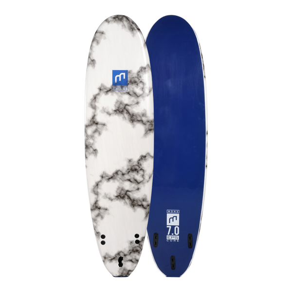 MDNS SURF - Softboards - 7'0 EPS Core Marble/Navy