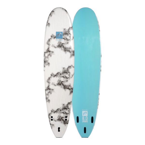 MDNS SURF - Softboards - 8'0 EPS Core Marble/Aqua