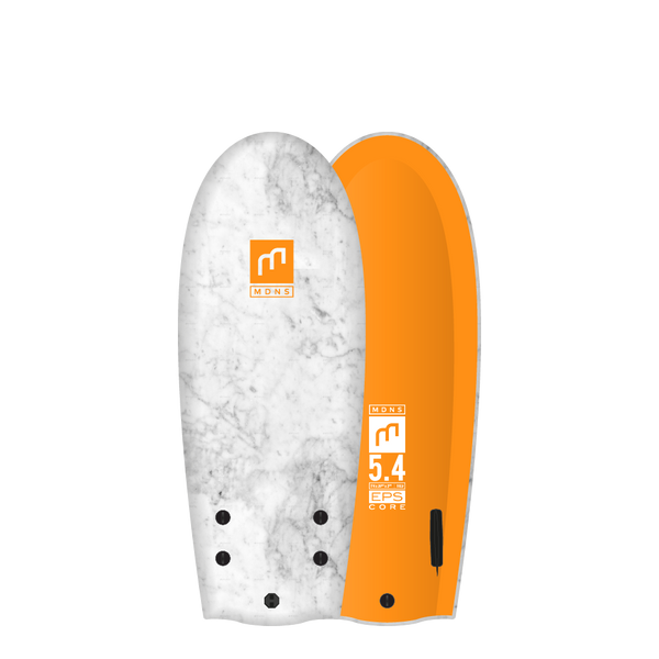 MDNS SURF - Softboards - 5'4 EPS Core Marble/Tangerine