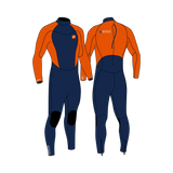 PIONEER YOUTH 3/2 BACKZIP STEAMER BOY NAVY/ORANGE - YOUTH'S WETSUITS