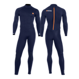 MDNS SURF - Men's Wetsuits - Pioneer CR-Foam - 5/4/3 Back Zip Steamer Navy/Orange
