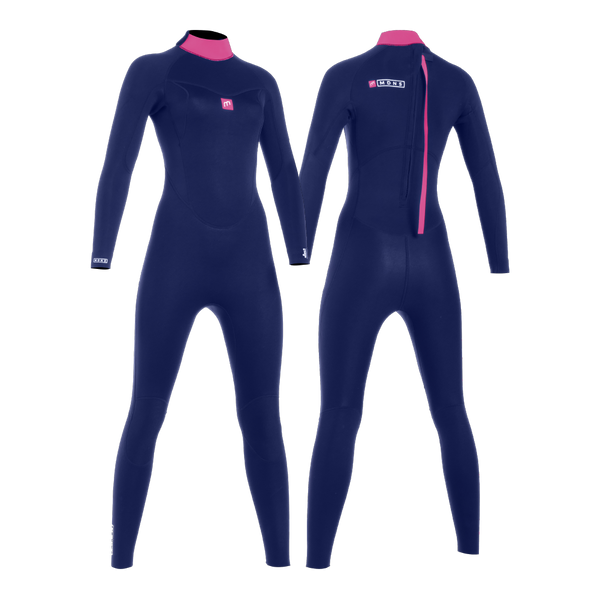 MDNS SURF - Women's Wetsuits - Pioneer CR-Foam - 4/3 Back Zip Steamer Navy/Pink