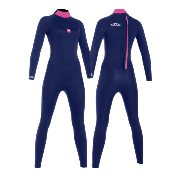 MDNS SURF - Women's Wetsuits - Pioneer CR-Foam - 5/4/3 Back Zip Steamer Navy/Pink