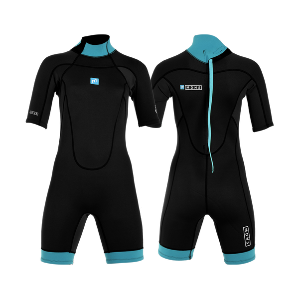 MDNS SURF - Women's Wetsuits - Pioneer CR-Foam - 2/2 Back Zip Shorty Black/Azure