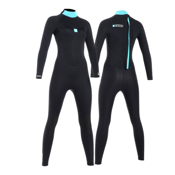 MDNS SURF - Women's Wetsuits - Pioneer CR-Foam - 4/3 Back Zip Steamer Black/Azure