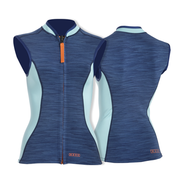 MDNS SURF - Women's Superstretch Wetsuits - Priime S-Foam - 1/1 Naiad Vest Heather Iodine/Orange