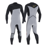 MDNS SURF - Men's Eco Friendly Wetsuits - Puure Yulex - 3/2 Chest Zip Steamer Black/Yellow