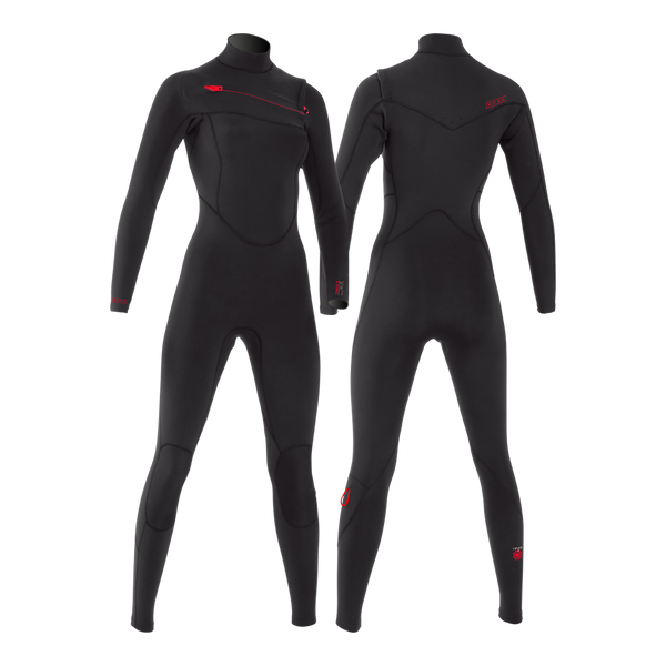 PUURE WOMEN 4/3 CHESTZIP STEAMER - WOMEN'S ECO WETSUITS