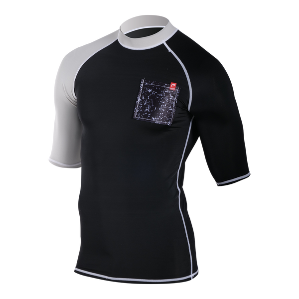 FASHION SHORTSLEEVES BLACK/GREY - RASHVEST