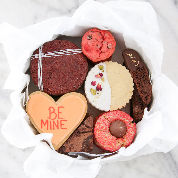 Be Mine Conversation Heart Cookie in a Valentine's Day Cookie Tin