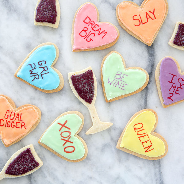 Galentine's Conversation Heart Cookies