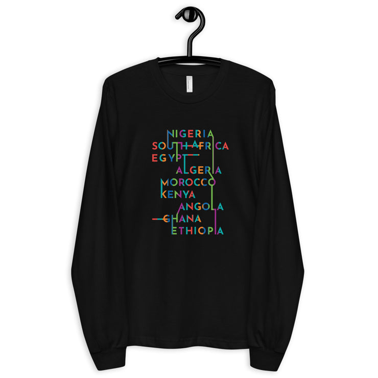 African Nations Long sleeve t-shirt