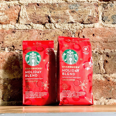 Starbucks Holiday Blend Medium Roast Whole Bean Coffee 190g|2 Pack - Ratton Pantry