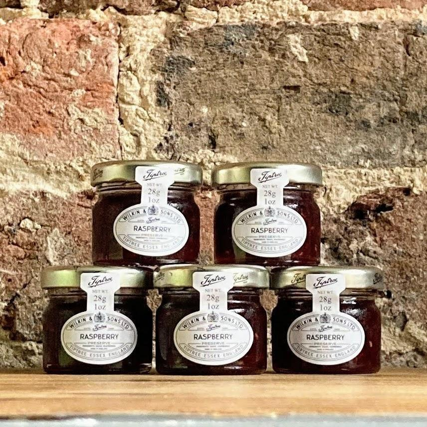 Wilkin & Sons Tiptree Jams 28g Mini Jars Strawberry | Raspberry | Apricot | Blackcurrant | Honey | Marmalade | Salted Caramel
