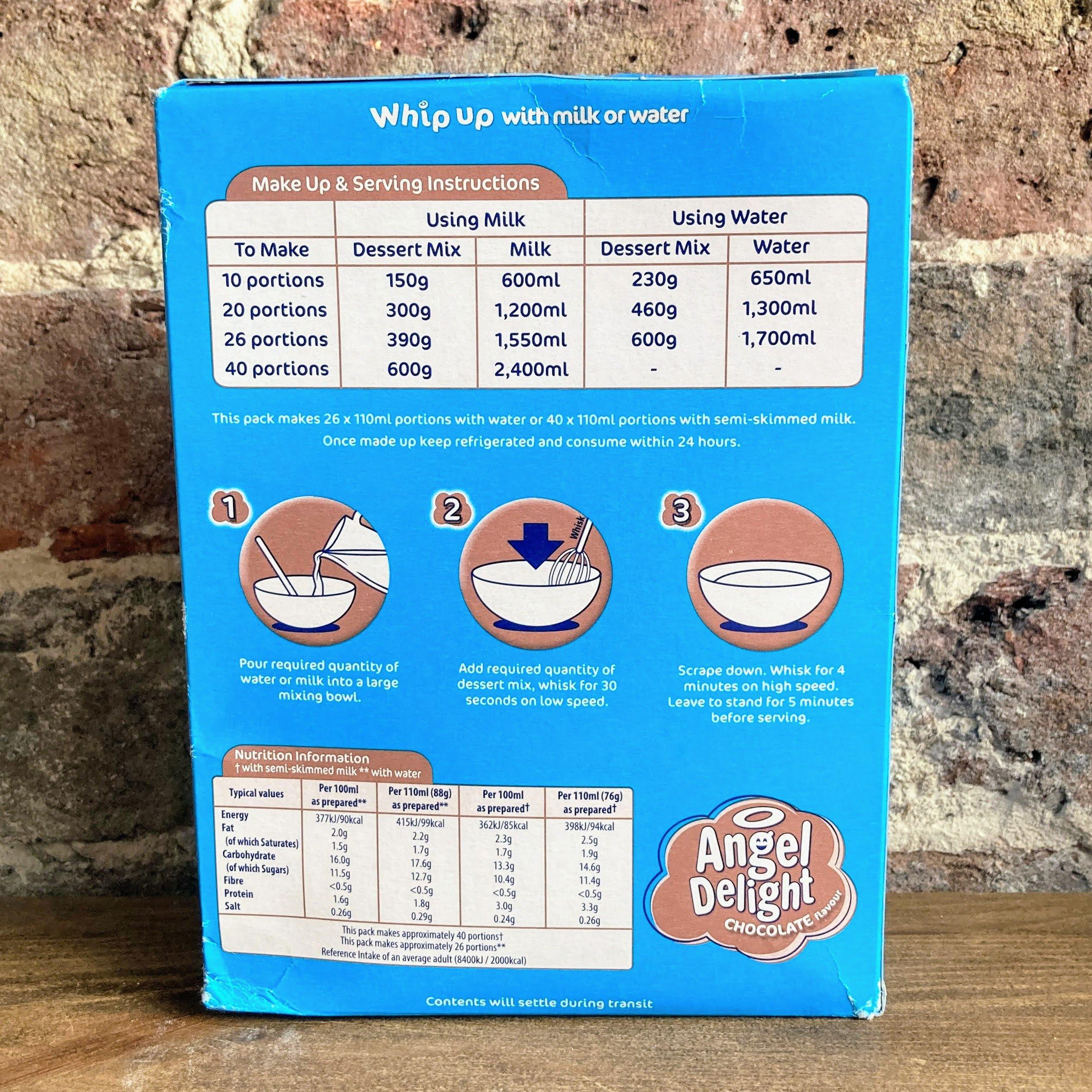 Angel Delight Chocolate Flavour Dessert Mix 600g - Ratton Pantry