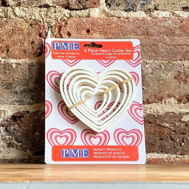 PME 6 piece Heart Icing & Pastry Cutter Set - Valentine - Love - Ratton Pantry