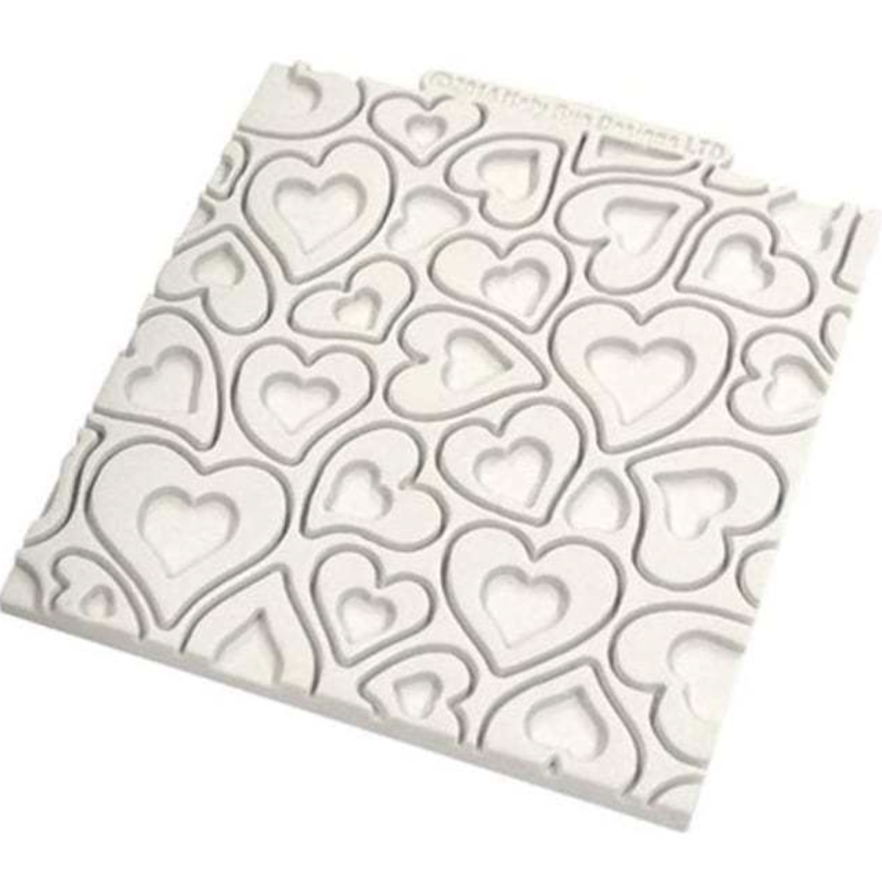 Katy Sue HEARTS Design Mat Silicone Sugarcraft Mould - Valentine - Love - Ratton Pantry
