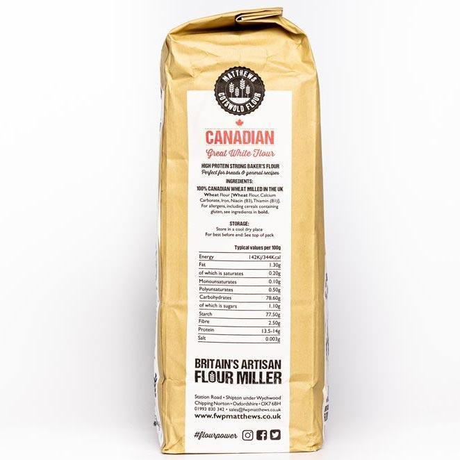 Matthews Cotswold 100% Canadian Great White Flour 1.5kg & 4.5kg - Ratton Pantry