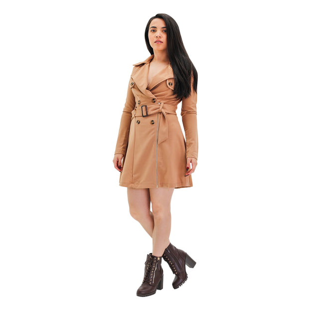 NICOLE MINI TRENCH DRESS
