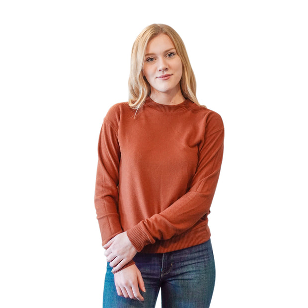SADIE CREW NECK IN ORANGE