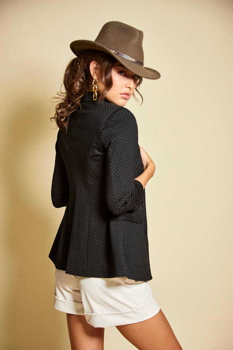 Black Textured Blazer