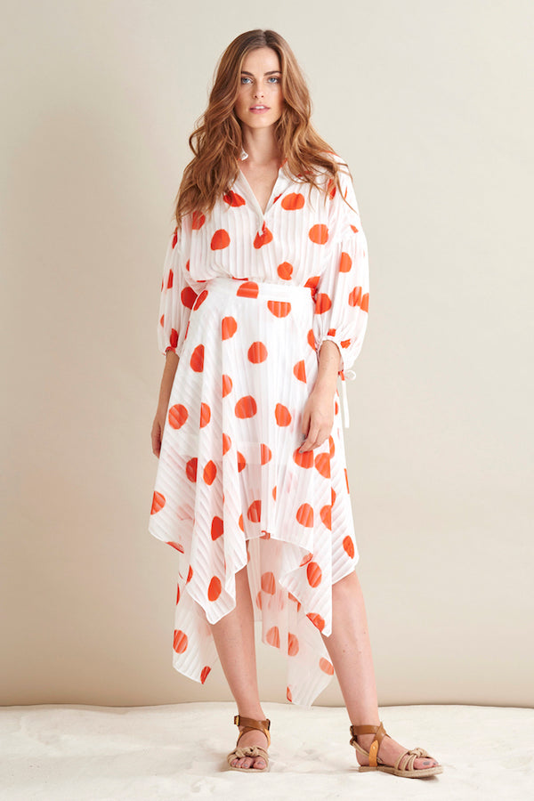 Bianca Polka Dot Statement Blouse