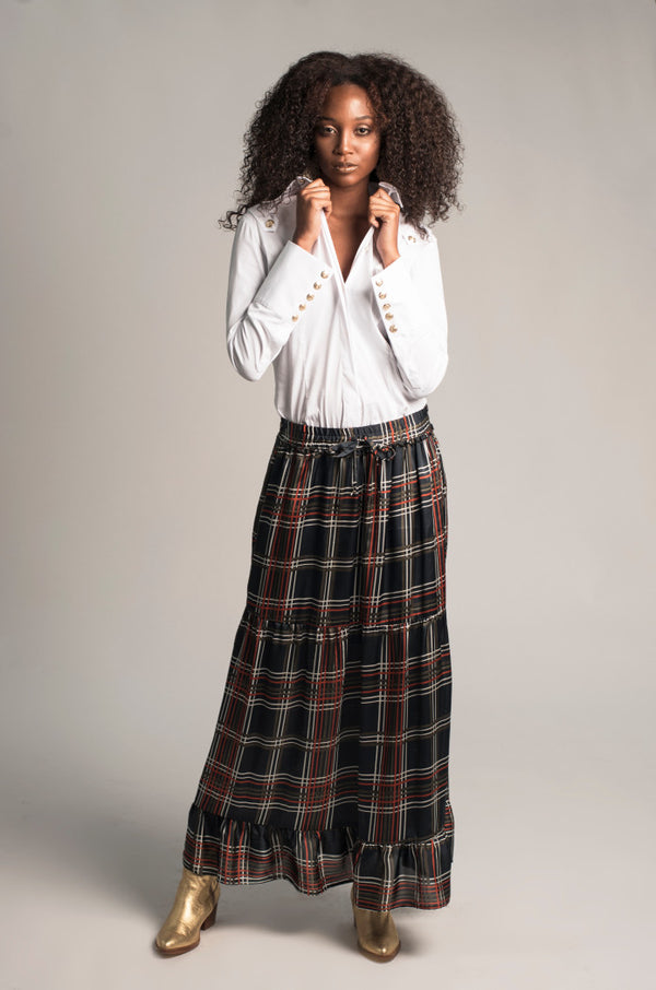 Plaid Maxi Skirt