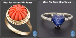Ring selections based on skin tones