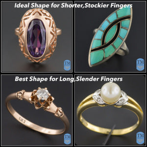 Selecting a ring that complements your finger shape