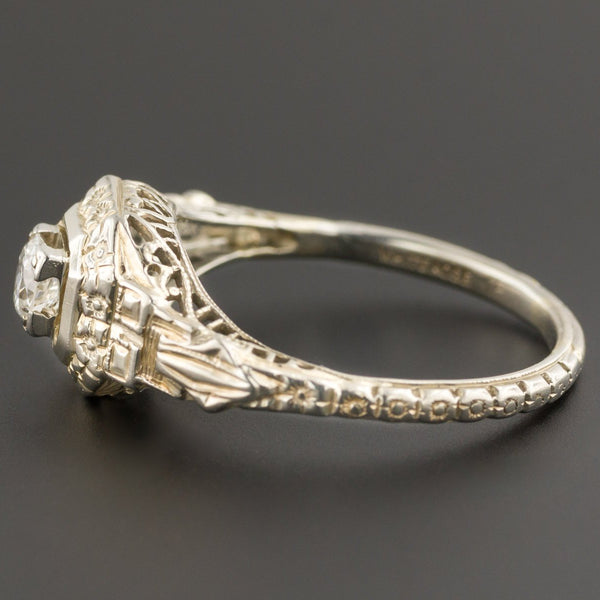 Art Deco Engagement Ring | Vintage Engagement Ring-Trademark Antiques
