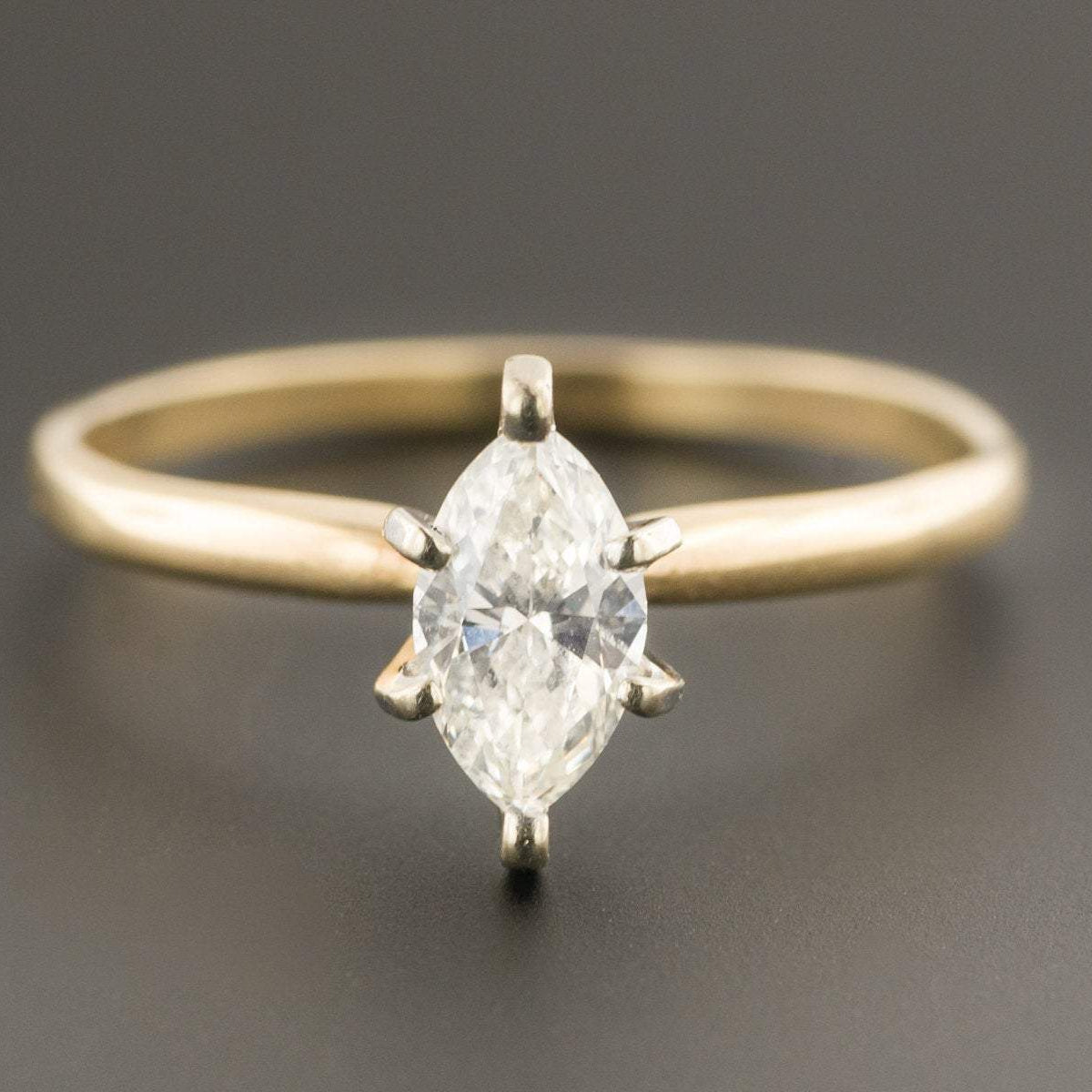 Marquise Cut Diamond Ring | Diamond Engagement Ring | 14k Gold Ring | Diamond Solitaire