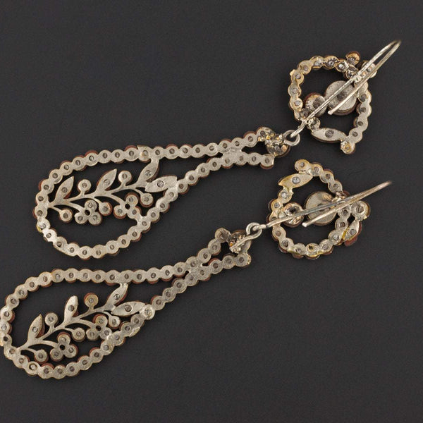 Antique Cut Steel Earrings | Antique Earrings-Trademark Antiques