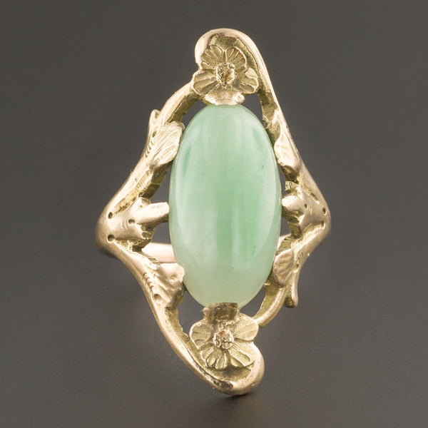 Jadeite Jade Ring | Untreated Jade Ring-Trademark Antiques